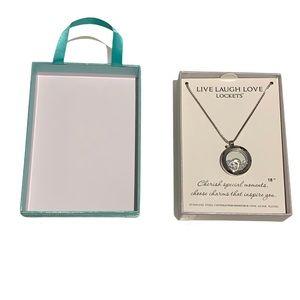 Floating Locket Necklace with Swarovski Crystals